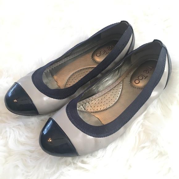 def1962b7956ce me too Shoes - Me Too navy   grey ballet flats